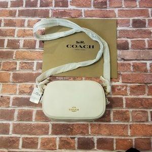 COACH Isla chain crossbody bag - white